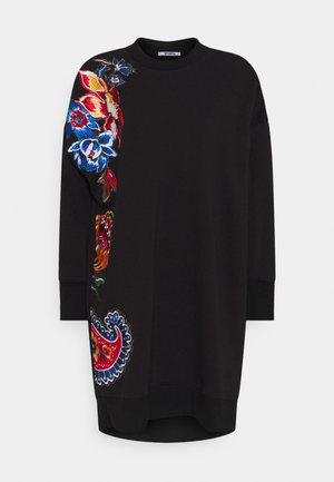 EMBROIDERY DRESS - Jurk - black