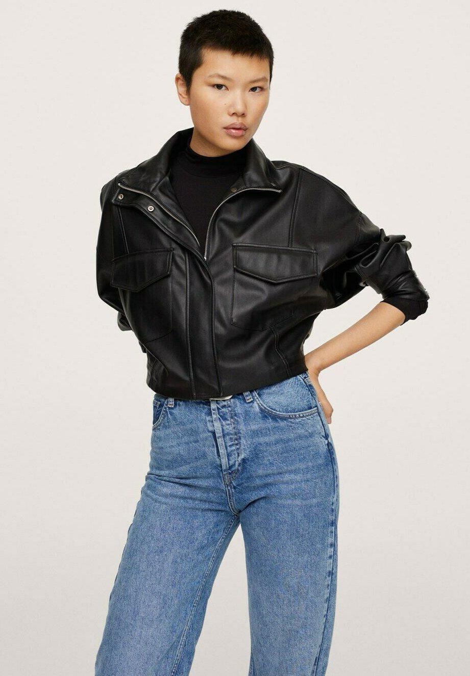 Women MIT LEDEREFFEKT - Faux leather jacket