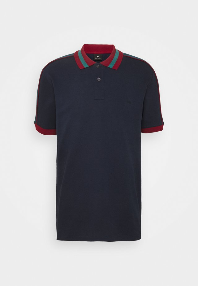 Poloshirt - dark blue/red