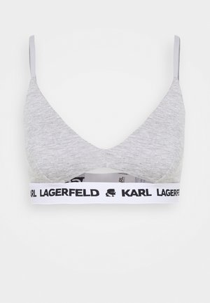 LOGO PEEPHOLE BRALETTE - Triangle bra - heather grey