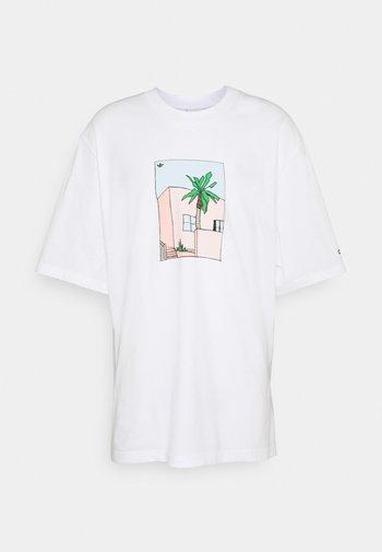 HAND DRAWN TEE - T-shirt con stampa - white