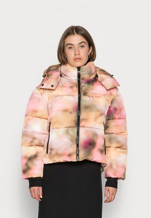BLURRED PUFFER - Winter jacket - blurred abstract aop