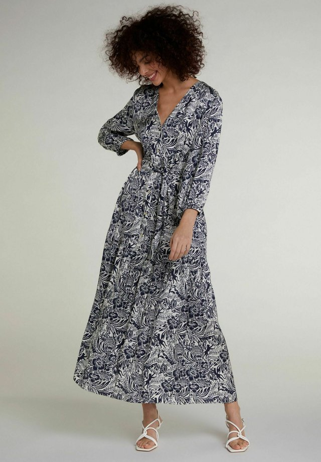Robe longue - white blue
