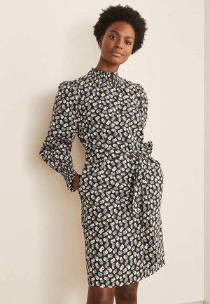 Day dress - schwarz kleines filigranes muster