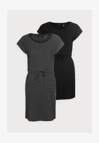Vero Moda Petite - VMAPRIL SHORT DRESS 2 PACK - Jerseykjole - black/black /snow white - 5
