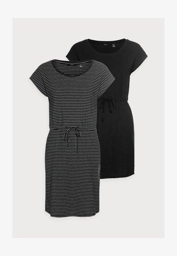 VMAPRIL SHORT DRESS 2 PACK - Vestido ligero - black/black /snow white