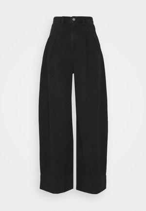 NANI PALAZZO - Flared jeans - black dark