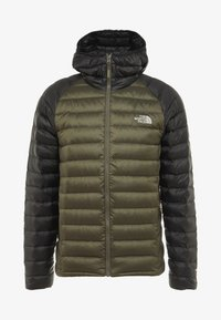 The North Face - TREVAIL HOODIE - Down jacket - new taupe green/black