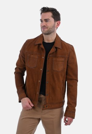 BAY - Leather jacket - brown