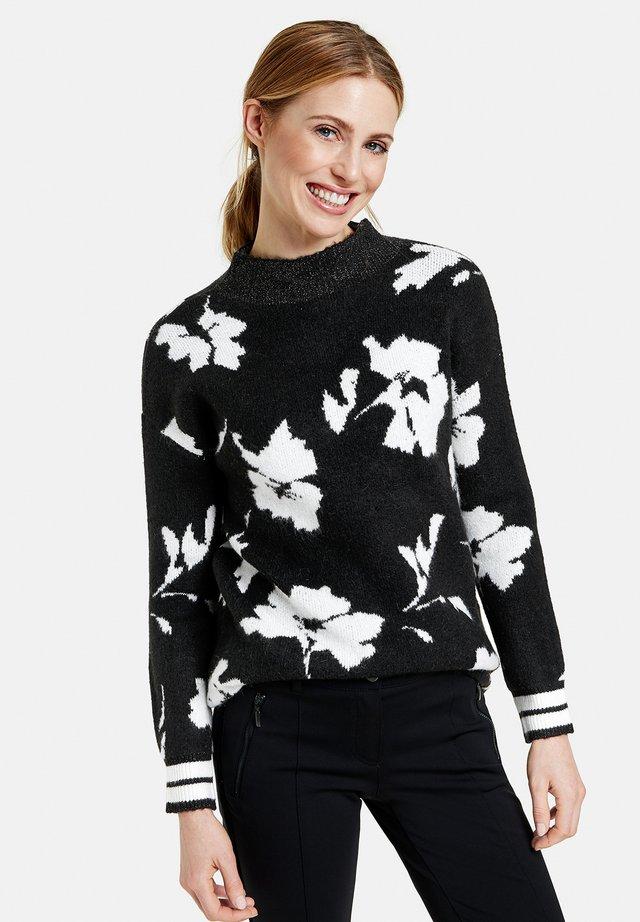 Pullover - schwarz/ecru/weiss gemustert