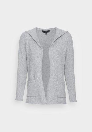 VMDOFFY OPEN HOOD CARDIGAN - Cardigan - light grey melange