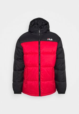 SCOOTER PUFFER JACKET - Giacca invernale - black/true red