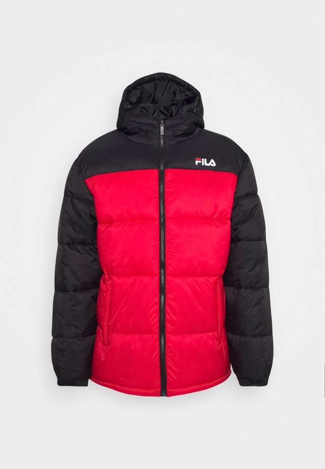 SCOOTER PUFFER JACKET - Winter jacket - black/true red
