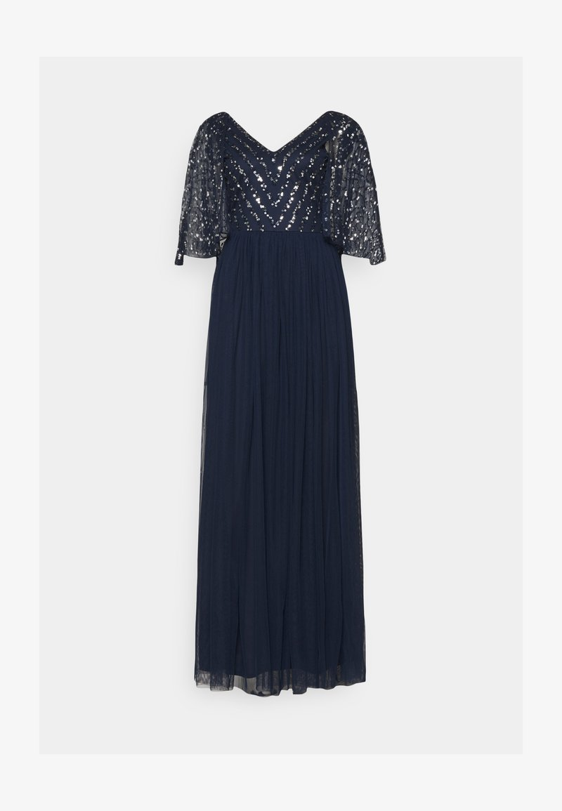 Maya Deluxe - CAPE BACK EMBELLISHED MAXI DRESS - Abito da sera - navy