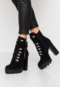 RAID - LONDON - Kotníková obuv na vysokém podpatku - black - 0