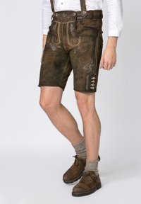 Stockerpoint - BEPPO - Shorts - brown/light brown - 0