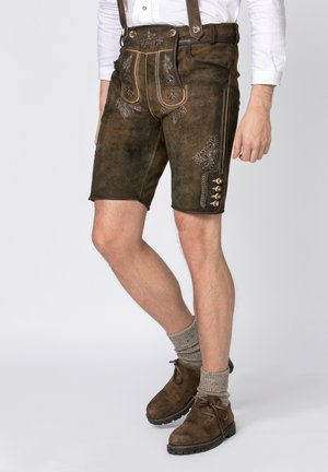 BEPPO - Shorts - brown/light brown