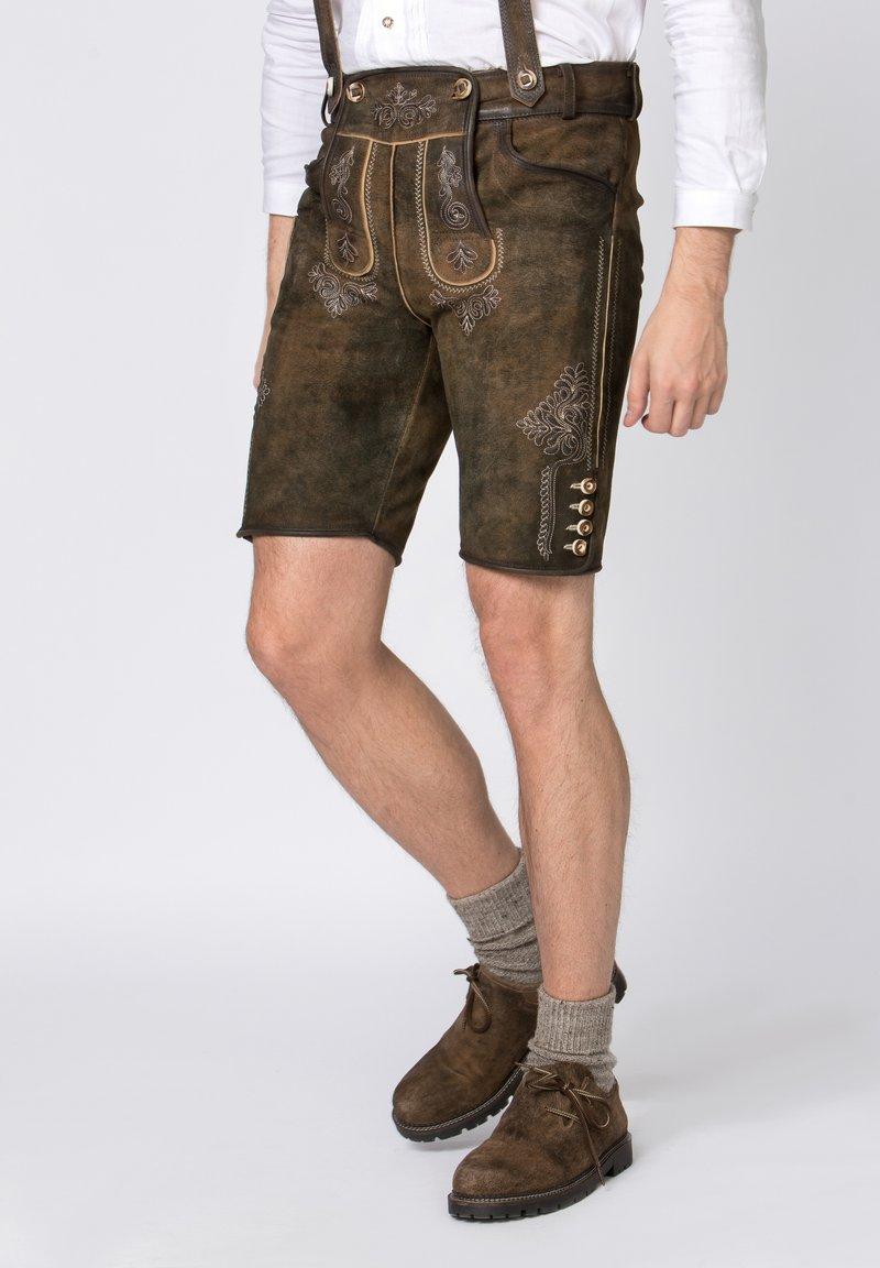 Stockerpoint - BEPPO - Shorts - brown/light brown