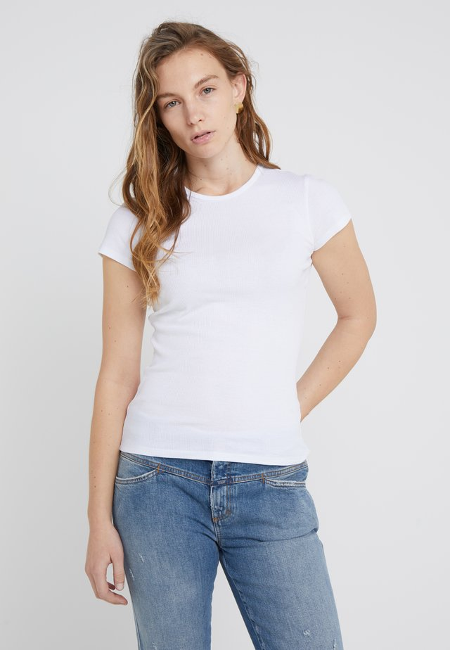 FINE TEE - Camiseta básica - white