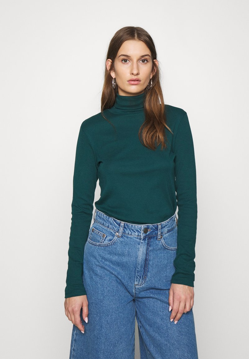 Benetton - TURTLE NECK - Long sleeved top - forrest green