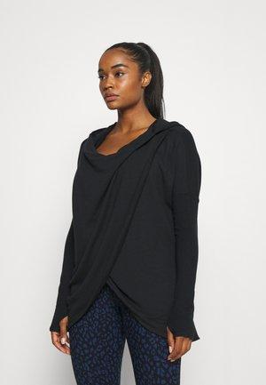 PURANA WRAP - Sweater - black