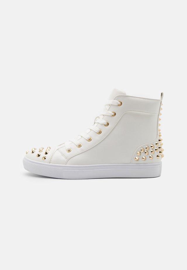 CORDZ - Sneakers hoog - white/gold