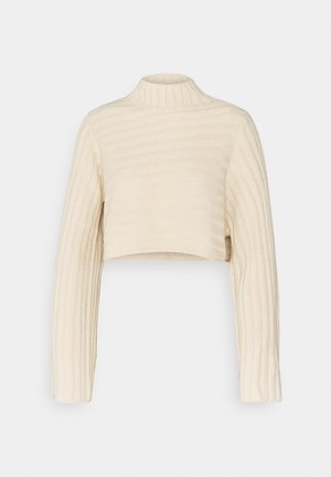 ROLL NECK JUMPER  - Jumper - stone