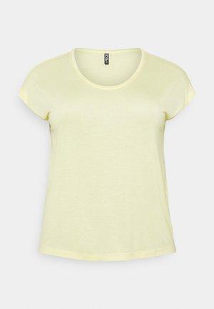 PCBILLO TEE SOLID - T-shirts - pale banana