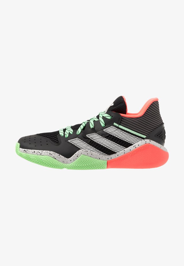 HARDEN STEPBACK - Basketballsko - core black/grey two/glow mint