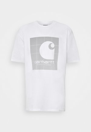 REFLECTIVE SQUARE  - T-shirts med print - white/reflective grey