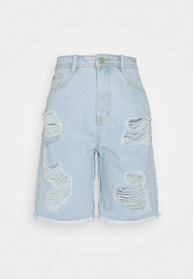 Missguided Tall - EXTREME RIP - Shorts di jeans - blue