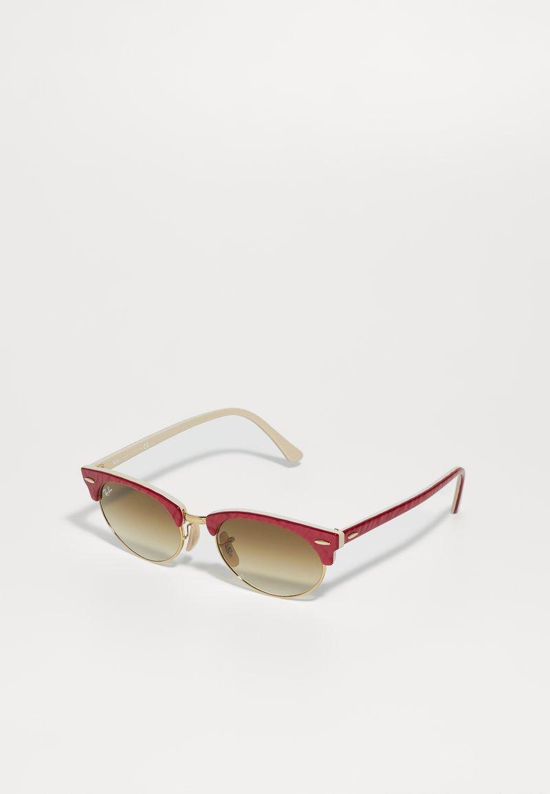 Ray-Ban - CLUBMASTER UNISEX - Sluneční brýle - red/beige