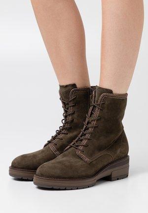 BOOTS  - Platform ankle boots - dark olive