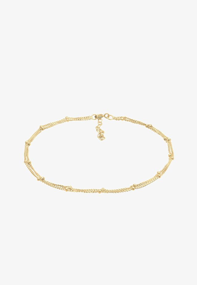 FUSSSCHMUCK KUGELKETTE  - Armband - gold-coloured