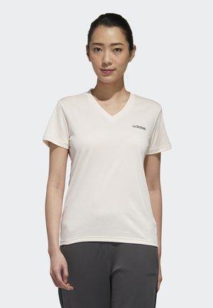 SOLID T - T-shirt basic - pnktin/white