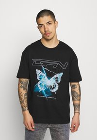 Good For Nothing - WITH ELECTRIC BUTTERFLY - Print T-shirt - black - 0