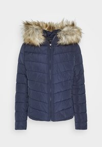 ONLY - ONLNEW ELLAN QUILTED HOOD JACKET - Light jacket - night sky - 4