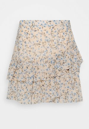 ANNABELLE RUCHED SKIRT - Falda acampanada - cornflower fields