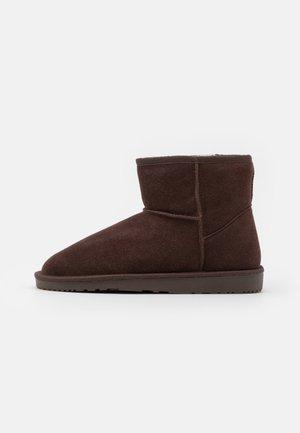 LEATHER - Winter boots - dark brown