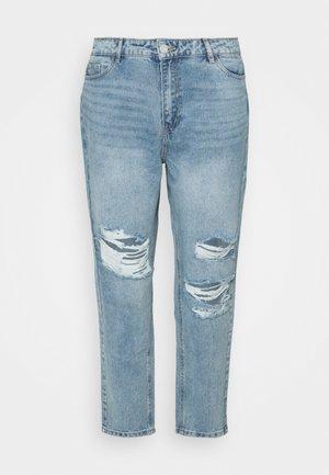 RECYCLED SLASH DISTRESS MOM - Jeansy Straight Leg - blue