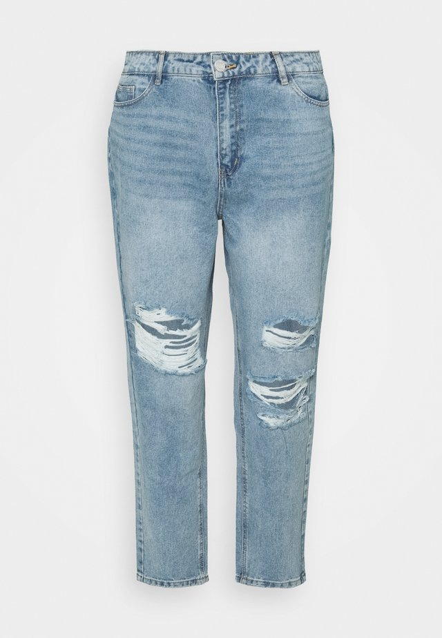 RECYCLED SLASH DISTRESS MOM - Jeans a sigaretta - blue