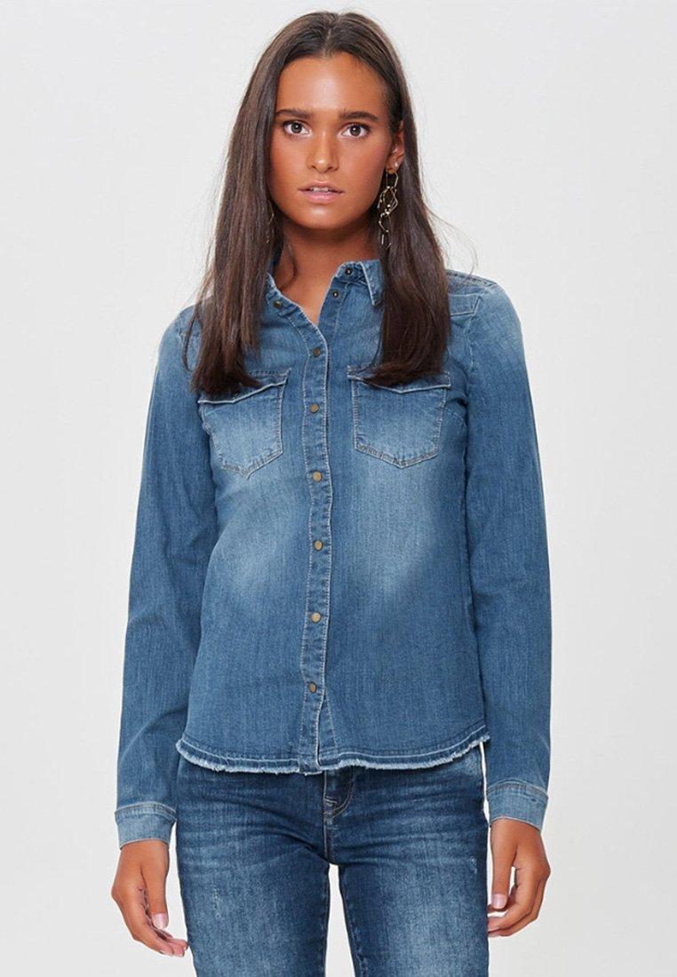 ONLY - RAW - Camisa - medium blue denim