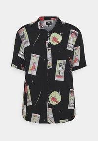 TAROT DECK UNISEX - Button-down blouse - black/multi-coloured