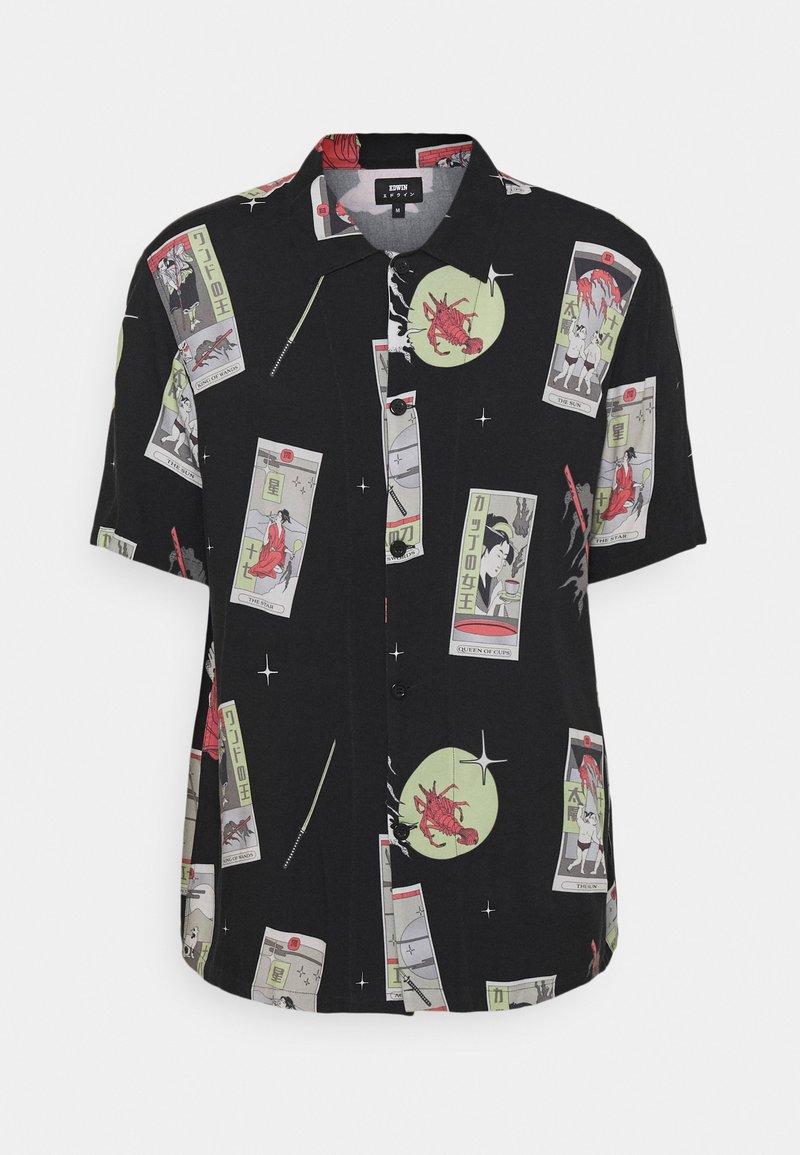 Edwin - TAROT DECK UNISEX - Button-down blouse - black/multi-coloured