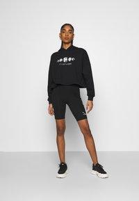 Even&Odd - Printed Oversized Sweatshirt - Sudadera - black - 1