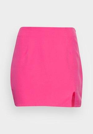 GENES SPLIT MICRO SKIRT - Minisukně - pink