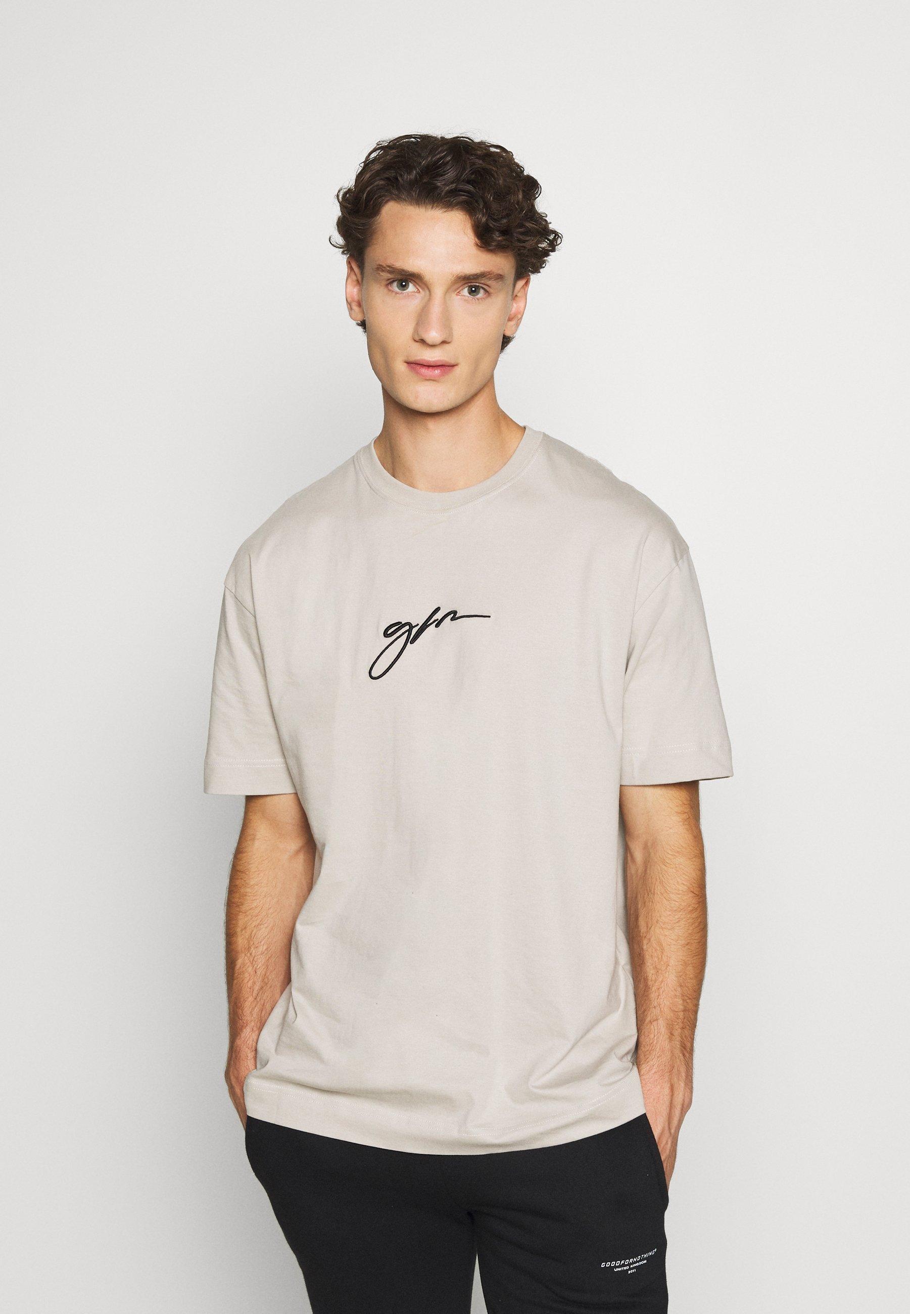 Men OVERSIZED SCRIPT - Print T-shirt