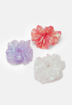 PCSCARRIE OVERSIZED SCRUNCHI 3 PACK - Hair Styling Accessory - bright white/coral/purple