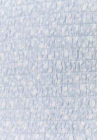 Abercrombie & Fitch - CINCH VNECK FLUTTER - Blouse - blue - 2