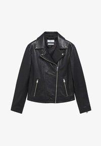 Mango - Leather jacket - schwarz - 5